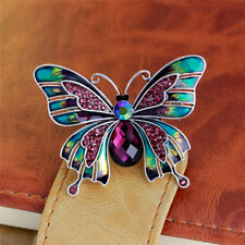 Fashion Vintage Crystal Butterfly Brooch Pin Jeans Collar Wedding Party Jewelry