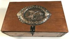 Vintage Pine Box with Large Angel Plaque