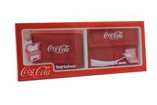 Coca Cola Red Keytainer Key Chain Ring & Card Case Gift Boxed