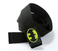 Boys Men Lady Casual Superman Or Batman Canvas Adjustable Pants Buckle Belt