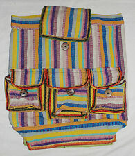 BNWT Gringo Woven Cotton Ruck Sack Backpack Bag - Hippy Fair Trade Ethnic