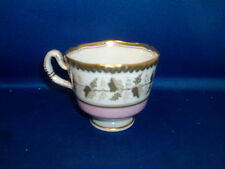 19th c.  Worcester Flight Barr Porcelain Coffee Tea Cup Pink Gold Grapevine Gold