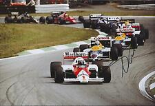 Nelson PIQUET SIGNED Williams HONDA 12x8 Race Photo AFTAL Autograph COA