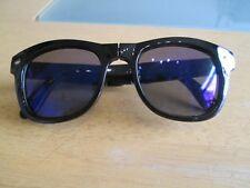 Black folding frame retro geek mirror sunglasses. Boys.