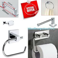 Luxury Chrome Square Wall Mounted Bathroom Toilet Tissue Paper Roll Holder Stand