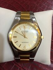 "Casio Men E-DATA-BANK PAIR Watch MTP1253 Two Tone It Fits 7.5"" Wrist"