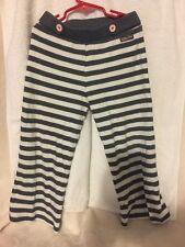 Girls MATILDA JANE Vintage Gypsy Grey White Striped Loose pants SIZE 8 Cute