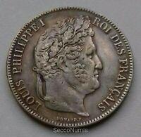 France. Louis Philippe I 5 Francs 1842 K Bordeaux QUALITÉ