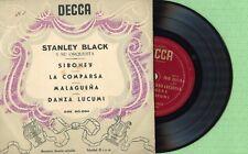 STANLEY BLACK / Siboney, Malagueña DECCA DGE-60084 Pres Spain 1956 EP EX