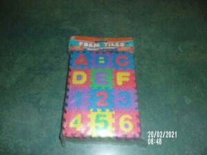 ABC FOAM PUZZLE TITLES 36PCS LEARNING TILES NEW