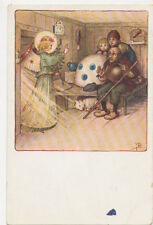 C6875 1910 Postcard Angel Telling Shepard About Jesus