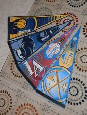 NBA full size pennants 4 total: Pacers Nuggets Grizzlies Clippers pre-owned