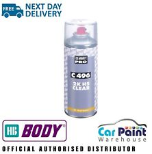 HB Body 496 2K Clear Coat Lacquer 400ml Clearcoat Aerosol Fast Drying