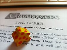 """SPECIAL MEEPLE for CARCASSONNE """" THE LEPER """" FAN MADE EXPASNSION rules in PDF"""