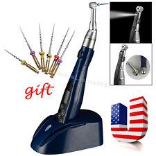 Mini Dental LED Endo Motor Root Canal Treatment Cordless 16:1 Contra Angle +Gift