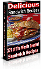 379 Delicious Sandwich Recipes on CD with Resell Rights