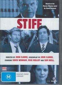 STIFF DVD David Wenham Mick Molloy Sam Neill Based On Shane Maloney Books SEALED