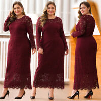 Ever-Pretty UK Long Sleeve Lace Evening Prom Dress Mother Of Bride Cocktail Gown