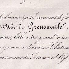 Marie Madeleine Odélie Duval De Grenonville De Chateaumorand Paradis 1862