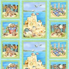 Wilmington Seaside Rendezvous by Jane Maday 28044 457W PANEL Cotton Fabric
