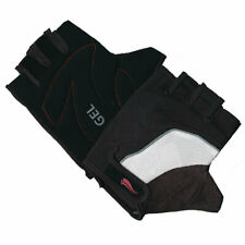Cycing Mitts Unisex White/Black - Lycra Gel Cycle Mitts