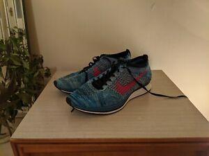 Nike Flyknit Racer US 12 Blue Trainer Spiridon