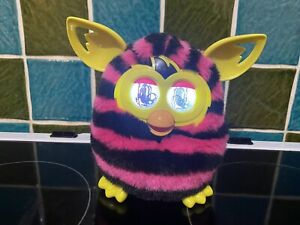 Furby Boom - Pink and Black Stripes (Hasbro) - Good Working Condition