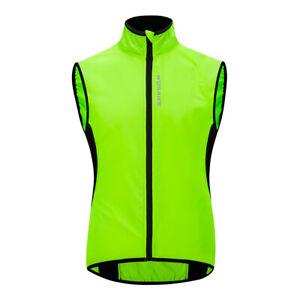 Mens Cycling Vest Windbreaker Waterproof Bicycle Jerseys BMX MTB Jackets Size XL
