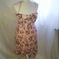 No Boundaries Pink lace floral summer dress juniors  size lg 11-13 open back