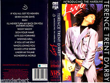 VHS -- Terence Trent D`ARBY - Introducing the Hardline - LIVE --