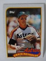 1989 Topps Craig Reynolds Houston Astros Wrong Back Error Baseball Card