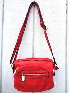 New Valentine Red Purse Crossbody Handbag shoulder Leather Faux Women's Girls