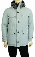 NEW MENS NAUTICA WATER RESISTANT RADIAL GREY HOODED DOWN PARKA JACKET 2XL $348