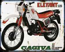 Cagiva Elefant 125 83 A4 Metal Sign Motorbike Vintage Aged