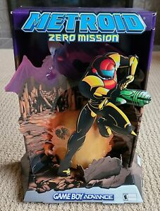 Original 2004 Metroid Zero Mission Counter Display Standee - Nintendo GBA Samus