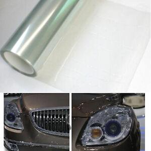 Clear Headlight Tint Vinyl Film Invisible Protector Tail Fog Lamp 2M x 30cm DIY