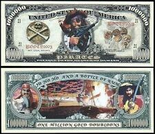Pirates Million Gold Doubloon Collectible Dollar Bill Funny Money Novelty Note
