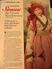 SIMONE~Jesse Chandler RARE & OOP 1998 lovely cloth art doll pattern