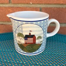 Warren Kimble America the Beautiful Creamer Barn Flag 1999 Americana