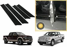 4pc Door Entry Scuff Guards For 2009-2014 Ford F-150 SuperCrew New Free Shipping