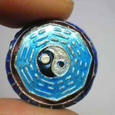 Vintage Old Handmade Chinese Tai Ji Enamel Cloisonne Bead 1970s #Z23
