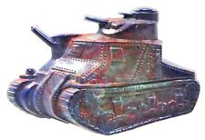 1940's WWII home front ARMY TANK Sweetheart plastic figural pin pinback brooch ^