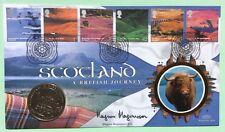 MAGNUS MAGNUSSON, TV, Mastermind, Signed 15.7.2003 Scotland British Journey FDC