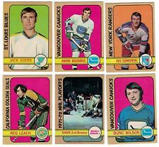 1972-73 OPC NHL Hockey Lot - EX-NM - Pick the cards you need - $2.50 each card
