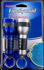 2 x Mini Keychain Flashlight Energy Saving Flash Light Key Chain With AA Battery