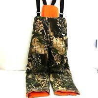 Vintage Field N Forest Hunting Overalls Mens Large L Camo-Orange Reversible