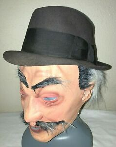 Vintage 1940s Fred Kelly Gray Felt Fedora Hat 7 1/8