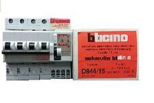 BTICINO D844/15 INTERRUTTORE MAGNETOTERMICO LIMITATORE BIPOLARE DIFFERENZIALE