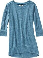 NWT Old Navy Girls Cocoon Tunic XS (5) Blue Top Shirt 3/4 Sleeve