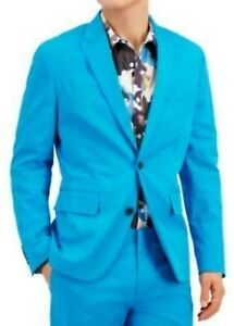 INC Mens Blazer Blue Size XS Slim Fit Two-Button Notched Collar $129 #012